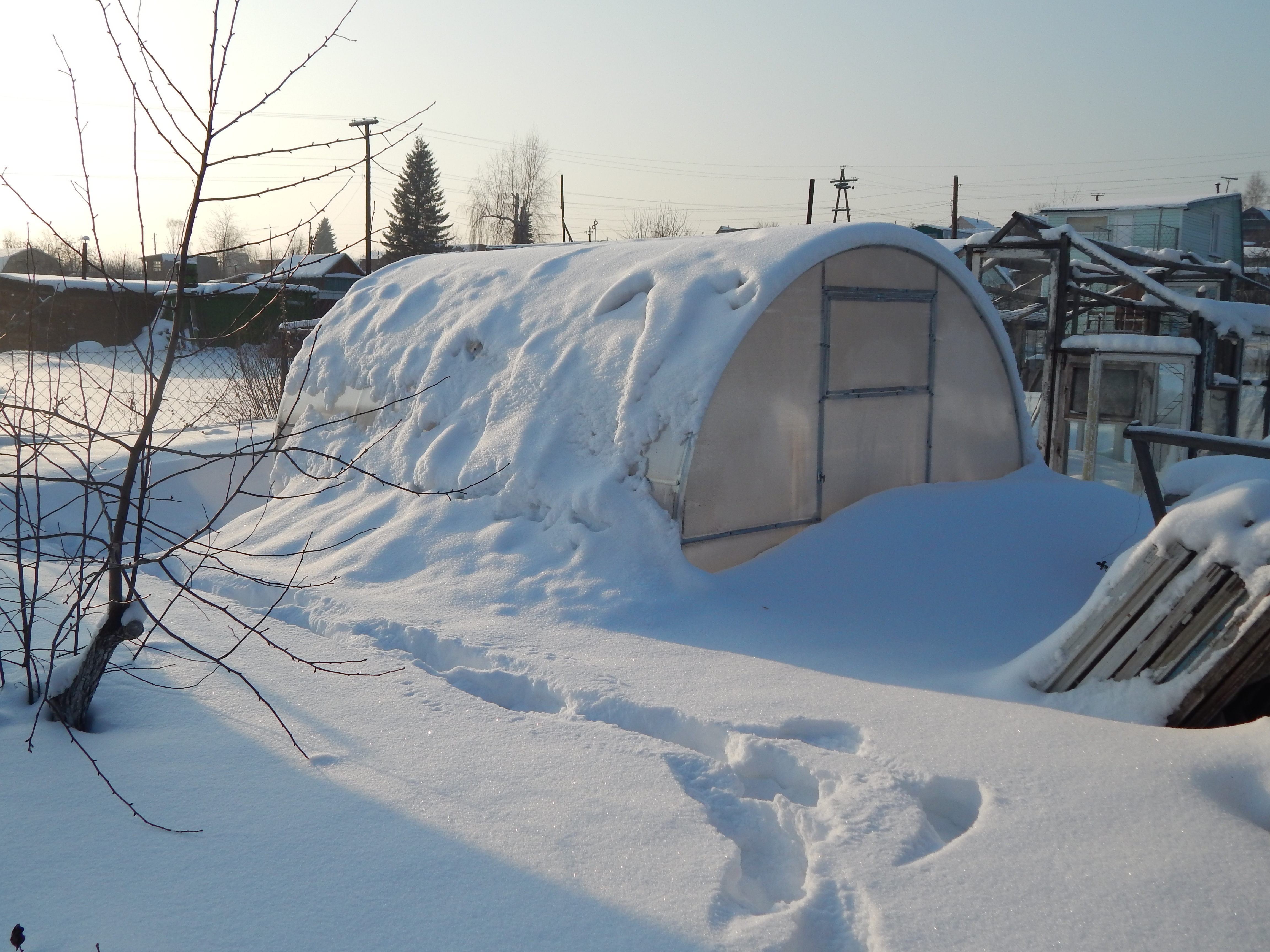 Теплица под поликарбонат, прочная теплица, производитель теплиц,Сверхпрочная теплица, теплица зима